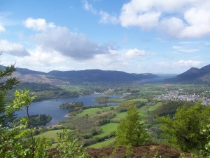 View over Keswick from Walla Crag